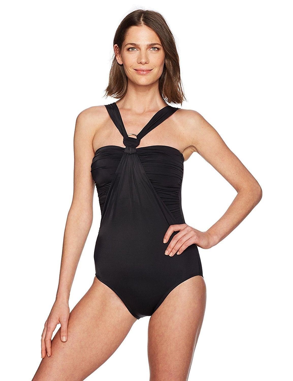 2466dcaa400c0 Women s Control Swimwear Halter One Piece Swimsuit With Hardware ...