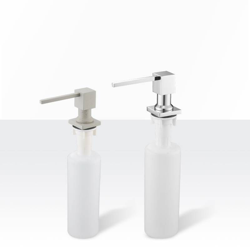Deck Mounted Kitchen Soap Dispensers Square Pump Chrome Finished Soap Dispensers For Kitchen Built In Counter Top Dispenser 2306 Kitchen Soap Dispenser Detergent Dispenser Kitchen Soap