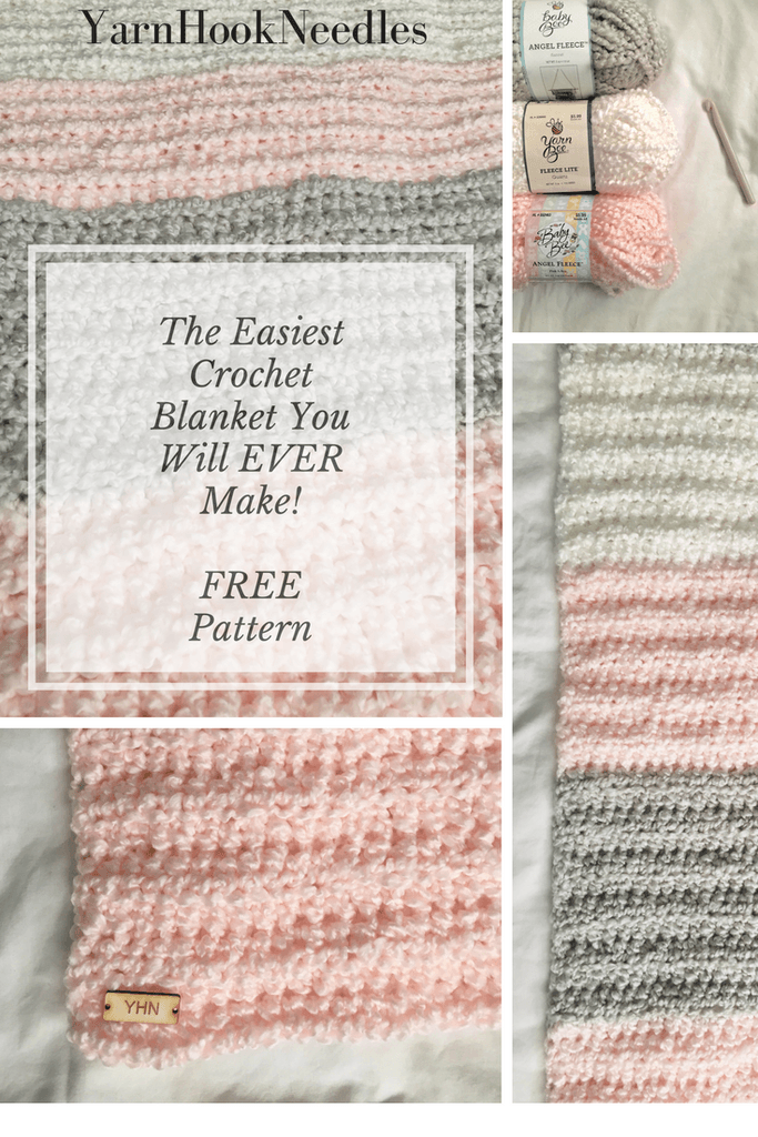 The Easiest Crochet Blanket You Will Ever Make with a FREE Pattern