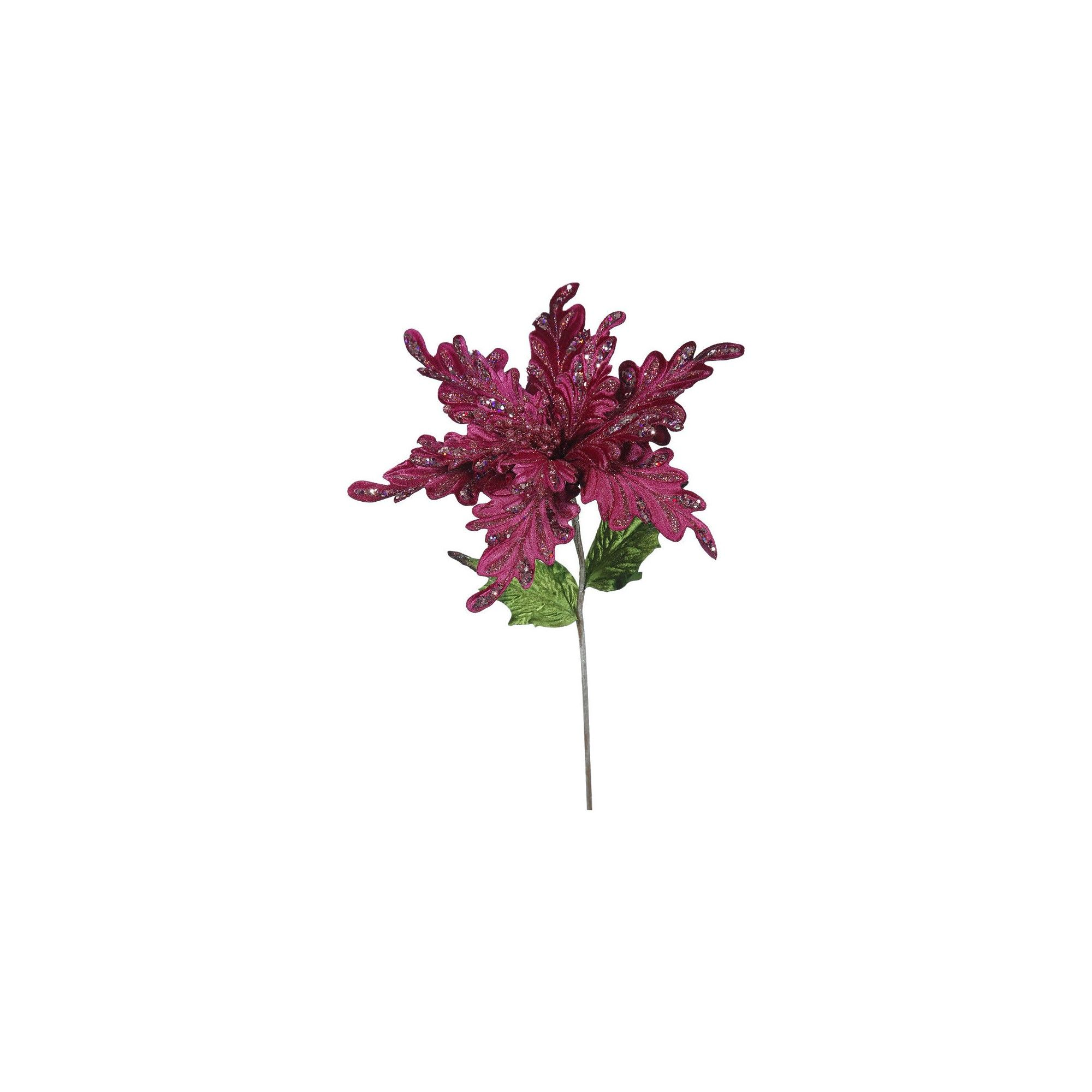 Ct Pick 3 >> 15 Christmas Velvet Poinsettia Decorative Christmas Pick Mauve Pink
