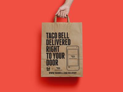 Taco Bell X Door Dash Bag Concept Taco Bell Concept Bags
