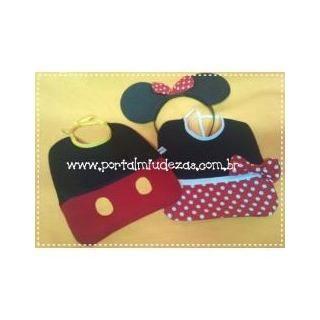 Babador Minnie Ou Mickey - Valor Por Unidade