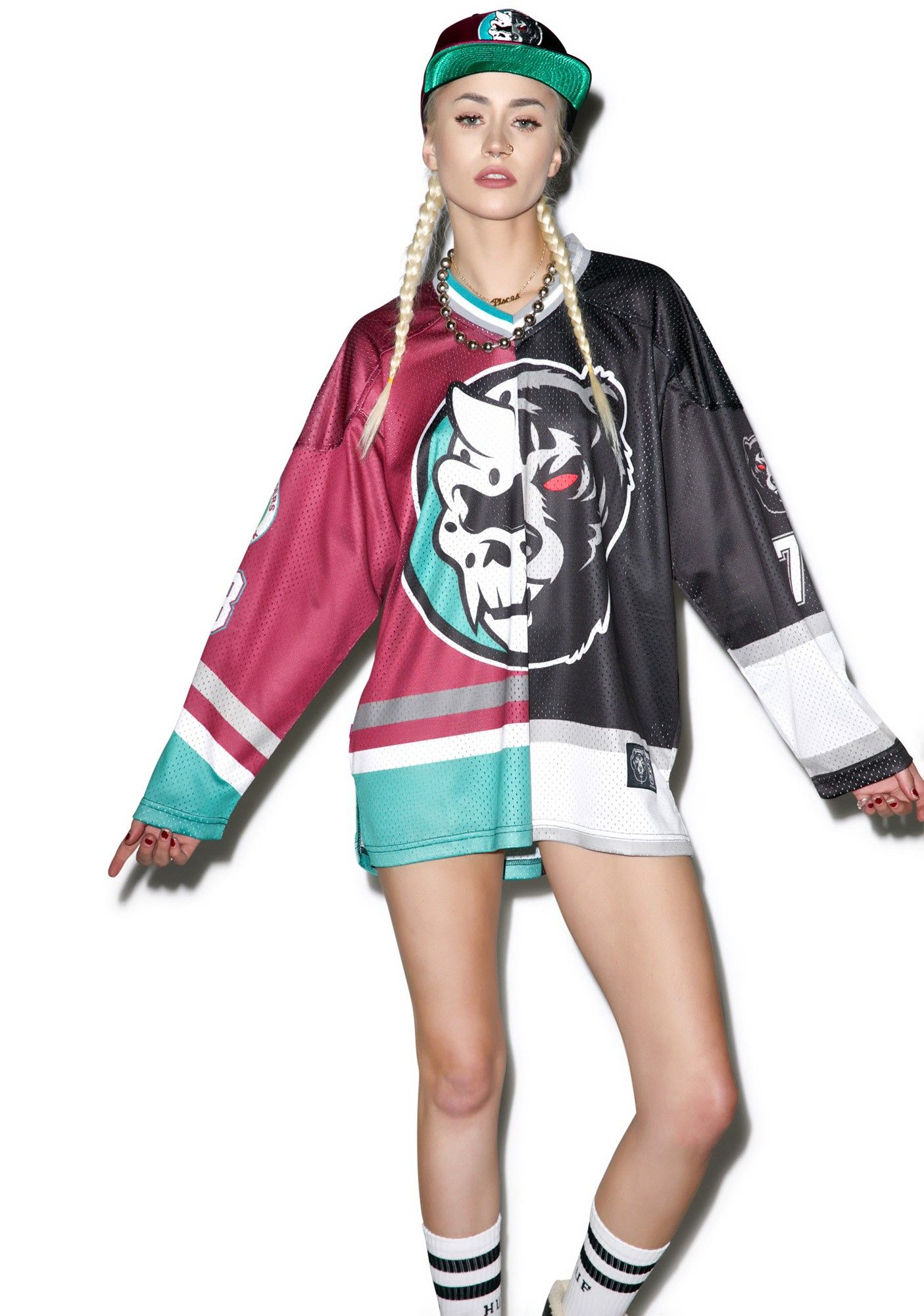 Split Icons Hockey Jersey Streetwear Outfit Hockey Jersey Wildfox Couture