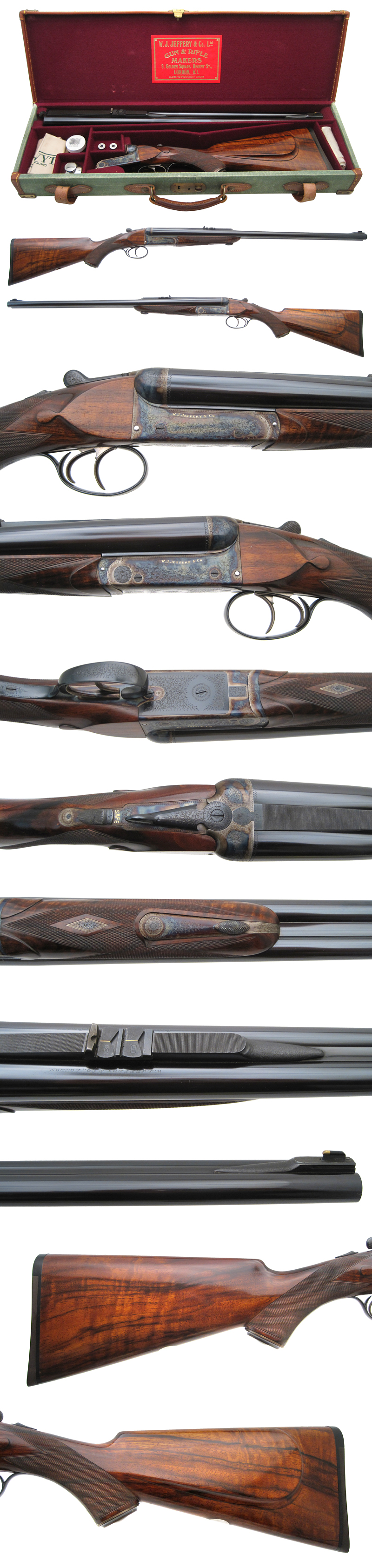 Griffin & Howe Rifle Details Page  W.J. Jeffery - Double Rifle - .500 NE caliber - $46,500.00   Classic double rifle in .500NE w/gorgeous case!