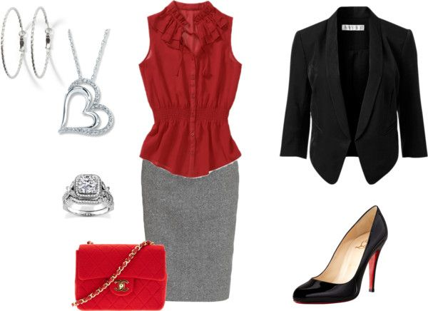 """""""red and black"""" by louannshort on Polyvore"""