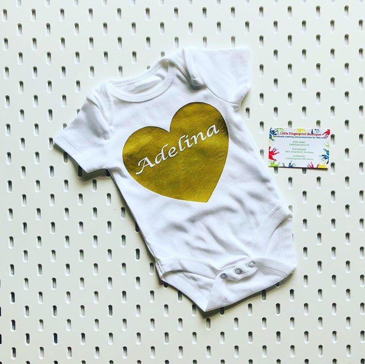Personalized Baby Name Onesie /& Bandana Bib Set