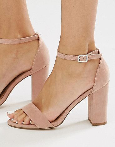 5009d255a2e6 2 Part Block Heel by New Look. Sandals by New Look