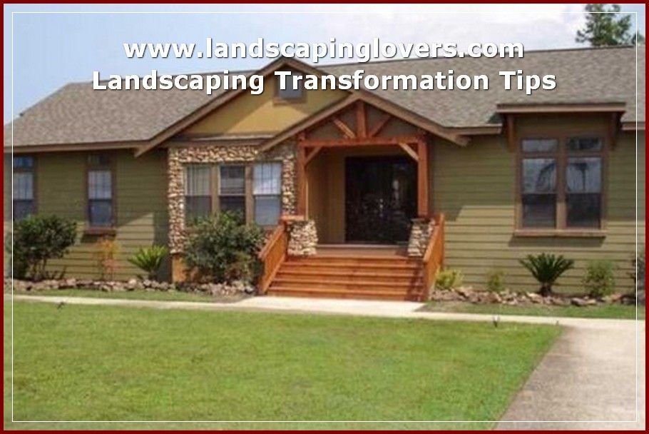 Create A Perfect Yard With These Tips Landscaping Lovers Mobile Home Landscaping Mobile Home Exteriors Remodeling Mobile Homes