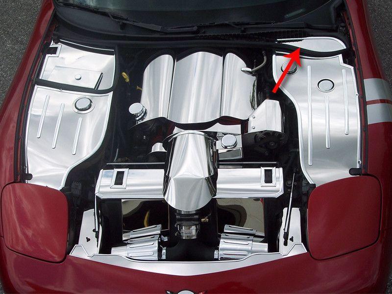 Corvette Inner Fender Cover Extender - Driver Side Only Polished 1997-2004 C5 & Z06