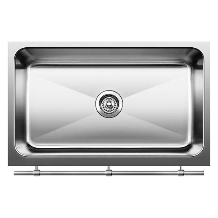Blanco Magnum 30 Large Single Bowl Sink With Apron And Stainless