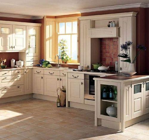 Küche im Landhausstil gestalten - rustikaler Touch zu Hause - kche mit kochinsel landhausstil