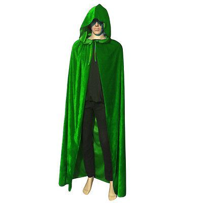 capes coats and cloaks 155345 halloween costume vampire witchcraft sleeveless green free size velvet cape