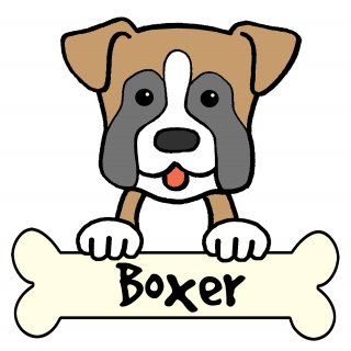 tag for boxer dog draw cartoon litle pups clipart best clipart best