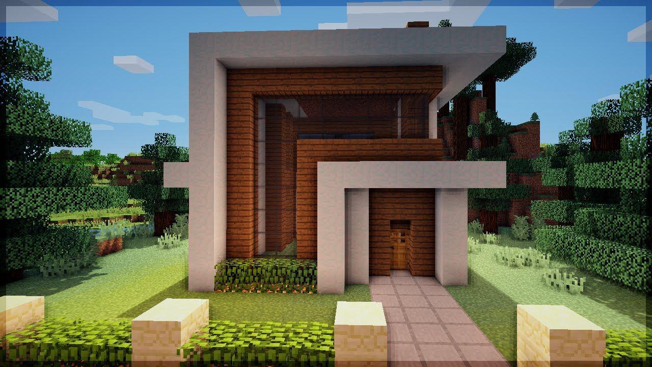 Minecraft construindo uma pequena casa moderna 6 for Minecraft moderno