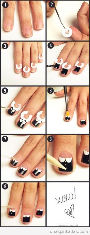 Tutorial paso a paso dibujo uñas | uñas | Pinterest | Dibujo ...