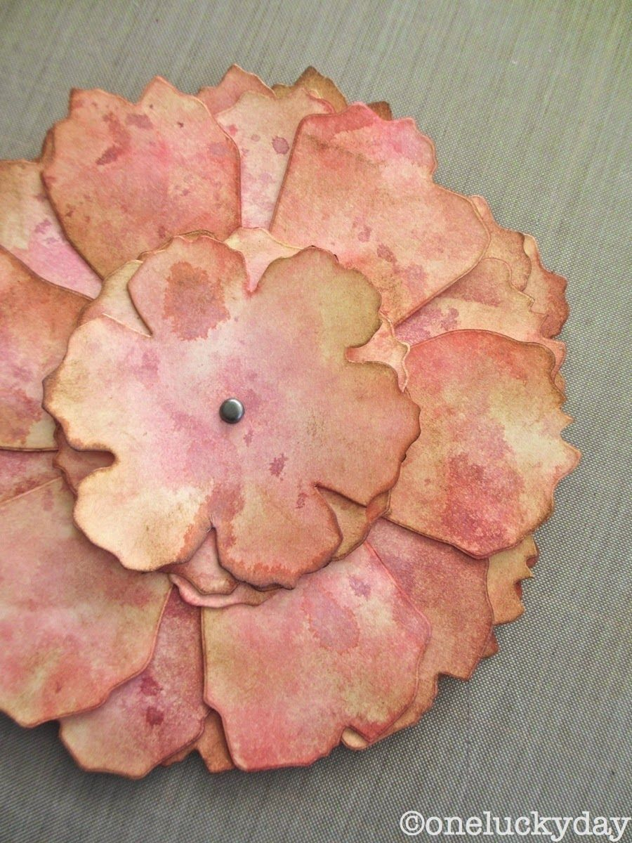 One Lucky Day The one about the really BIG flower  DIY Paper