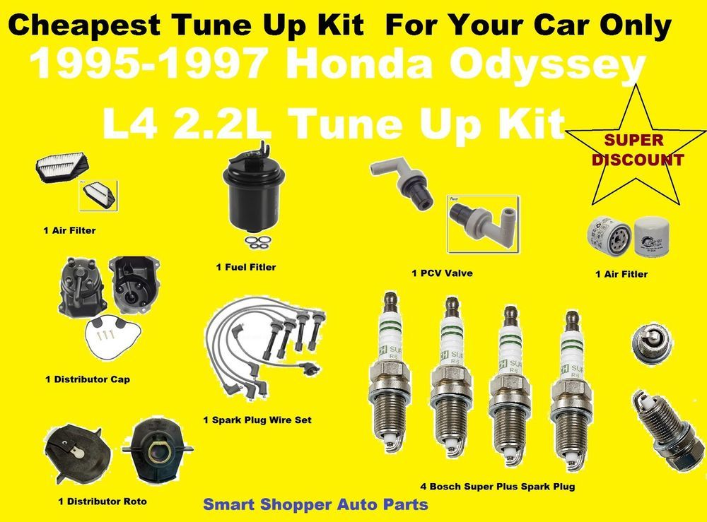 1995 1997 Honda Odyssey Tune Up Kit Spark Plug Wire Set Oil Air