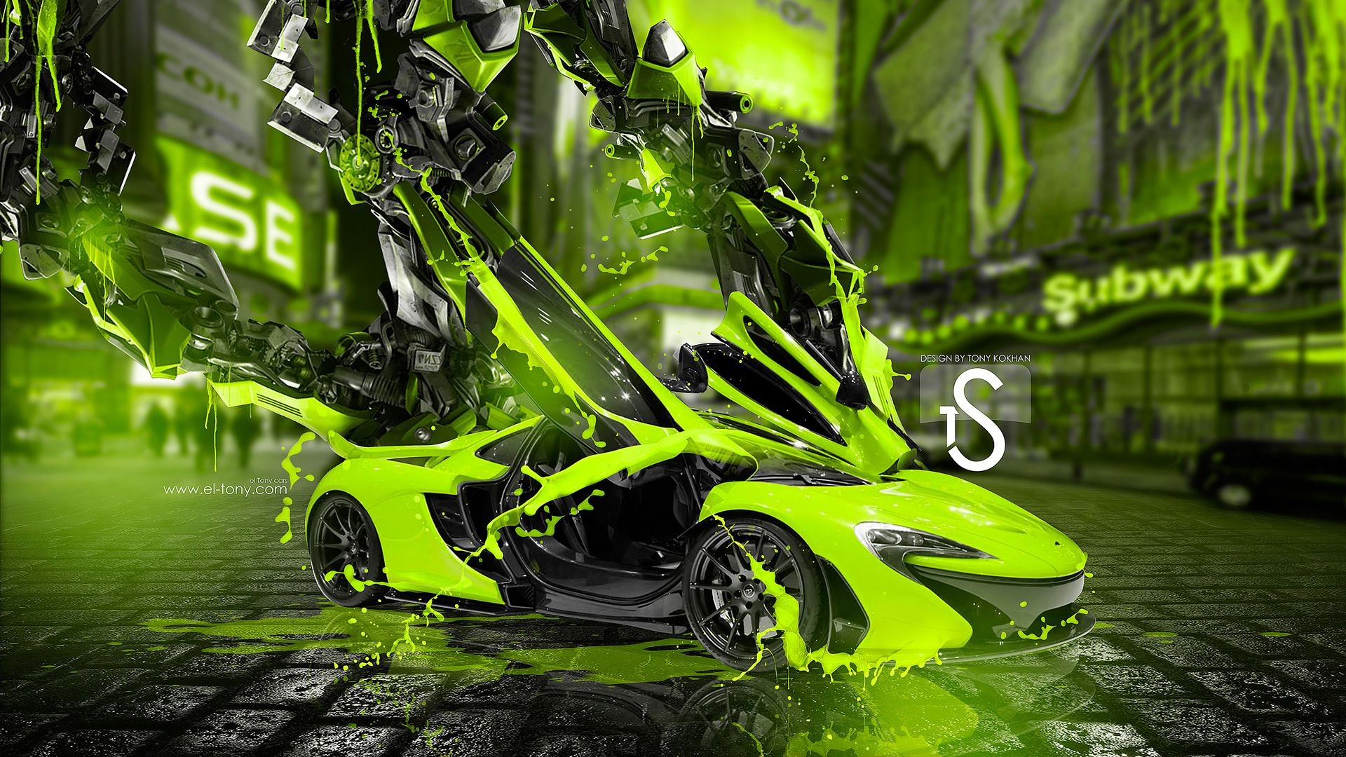 Awesome McLaren P1 Fantasy Transformer City Car 2014 HD Wallpaper | Wallpaper HD