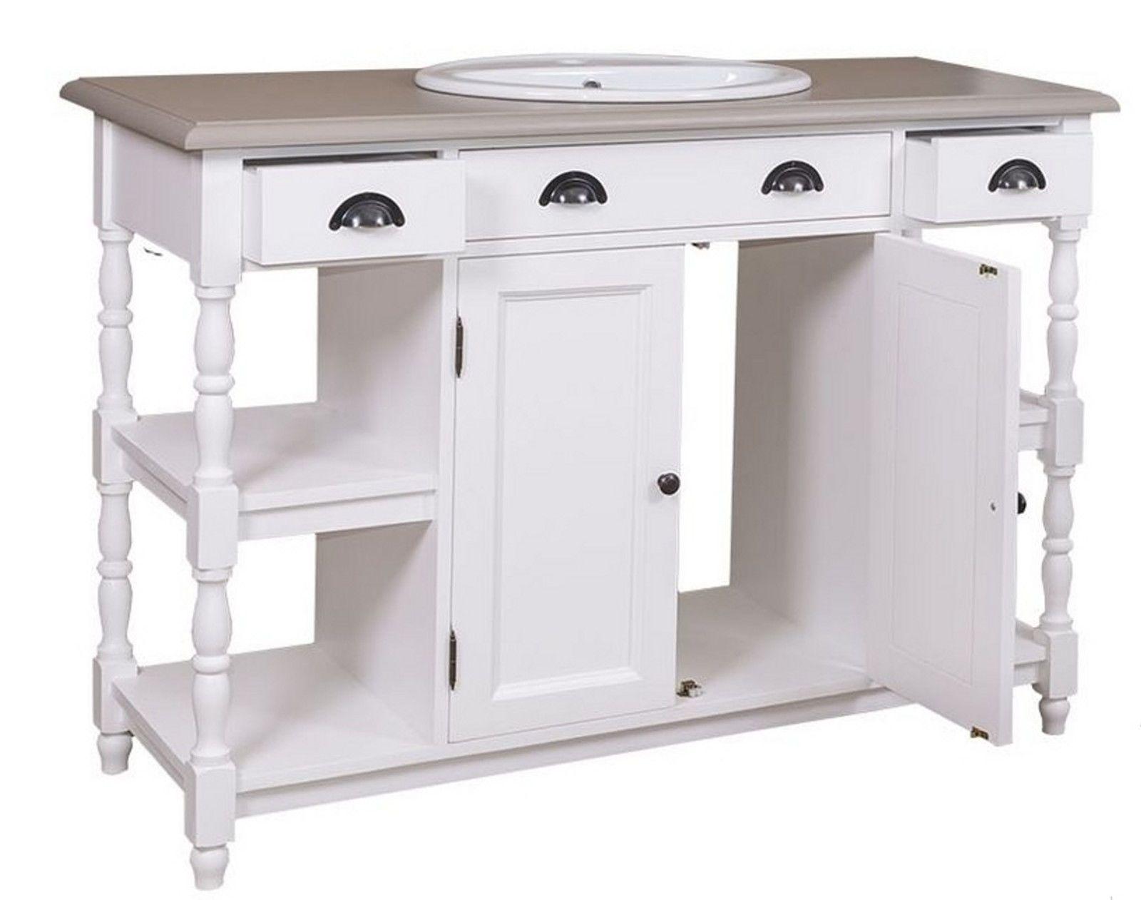 Waschtisch Waschbeckenunterschrank Badezimmer Mobel Massivholz