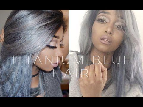 blue- titanium silver hair amazingnessssssss
