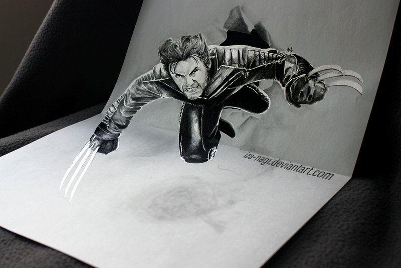 3d drawing by iza nagi http://webneel.com/3d-drawings-pencil-art   Design Inspiration http://webneel.com   Follow us www.pinterest.com/webneel