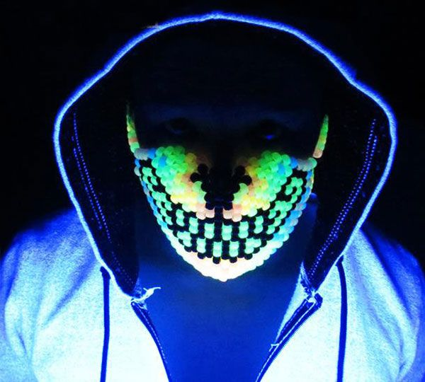 Glow In The Dark Rave Mask Cool Sh T I Buy Kandi Mask Kandi Rave Mask