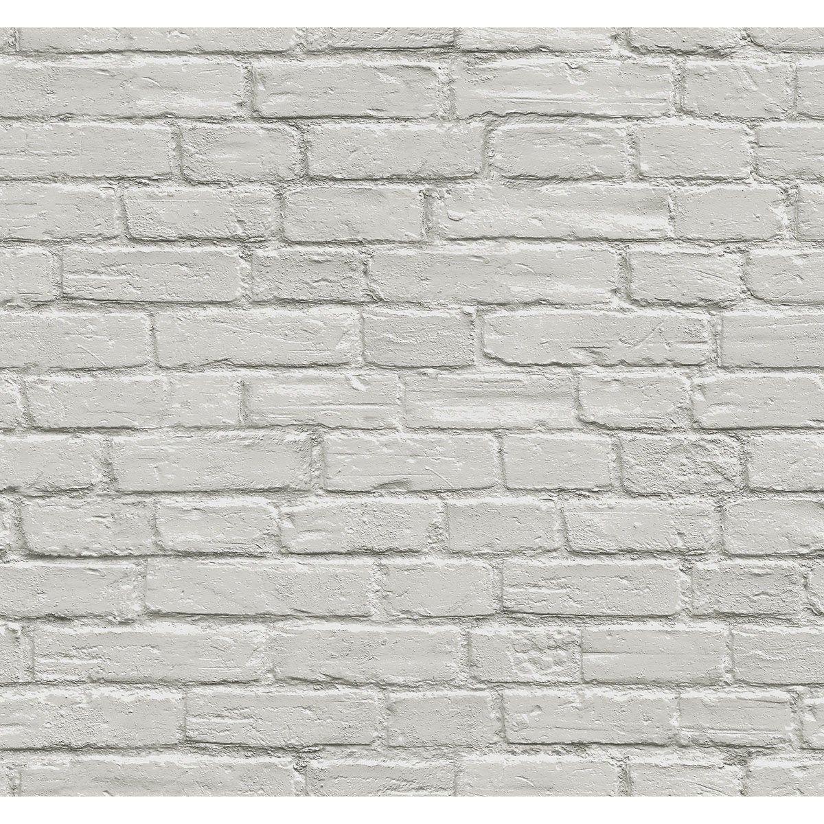 papier peint vinyle 3d brique gris