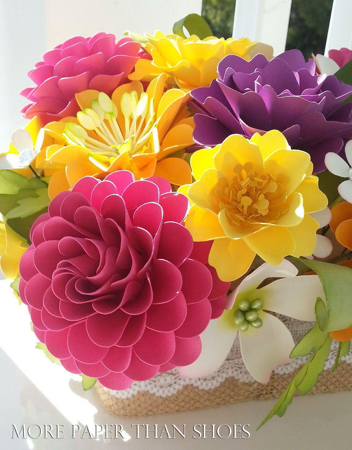 Paper Flower Centerpiece Table Arrangement By Morepaperthanshoes