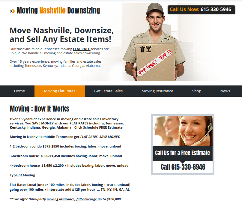 Moving In Nashville Middle Tennessee Get Flat Rates Save Money