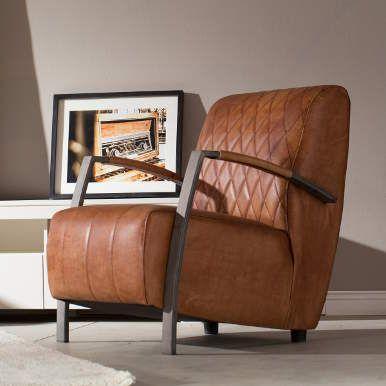CLUBMAN Sessel Cognac Leder   Stühle