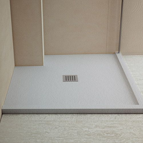 Made To Measure Shower Tray In Grey With Slate Textured Surface