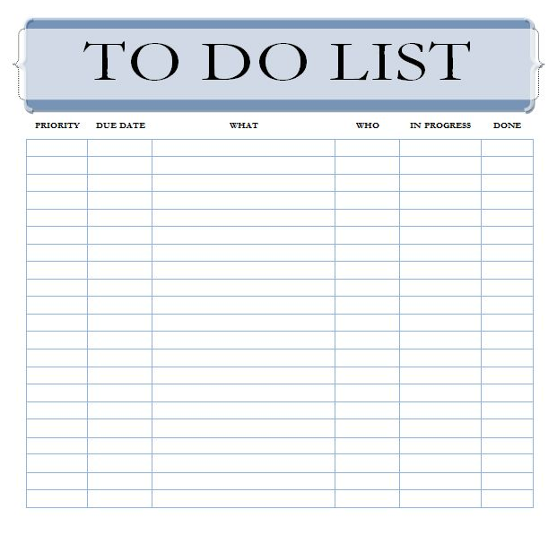 Editable to Do List Template – Free Printable Daily to Do List Template