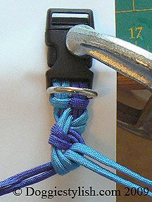I just love using paracord! it`s lightweight, sturdy & virtuallyhttp://www.cordbands.com/products/st-benedict-woodland-paracord-military-rosary indestructable! This ìble will show you how to make a `manly`collar for your dog using paracord and the seesaw knot. This knotting technique can also be used to make a dog leash, bracelet, belt or anything else that you see fit. You can see other cool tutorials like this one, on my blog, Bloggie Stylish