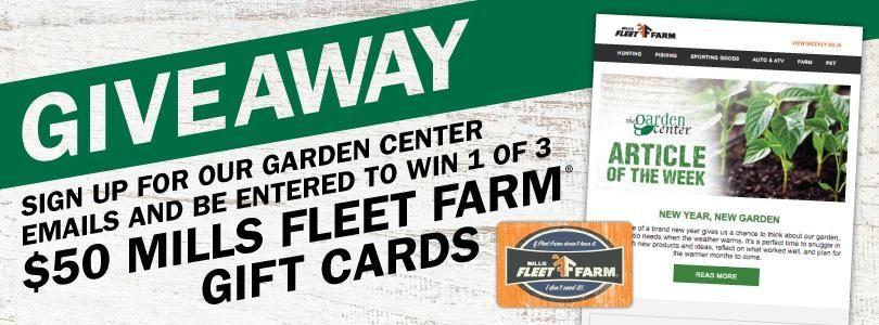 garden center gift card giveaway - Fleet Farm Gift Card