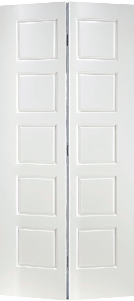Genial Primed 5 Panel Equal Smooth Interior Closet Bifold Door 30 Inch X 80 Inch