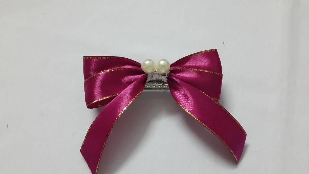 DIY Ribbon Bow Hair Barrette