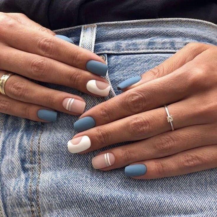 2020 Super Hot Nail Arts In 2020 Squoval Nails Minimalist Nails Modern Nails