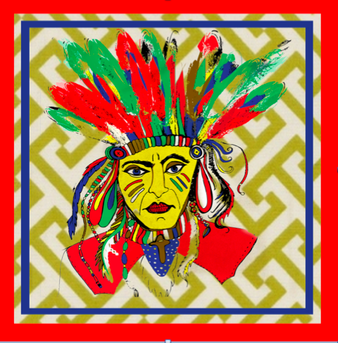 Red Indian  Print for sale
