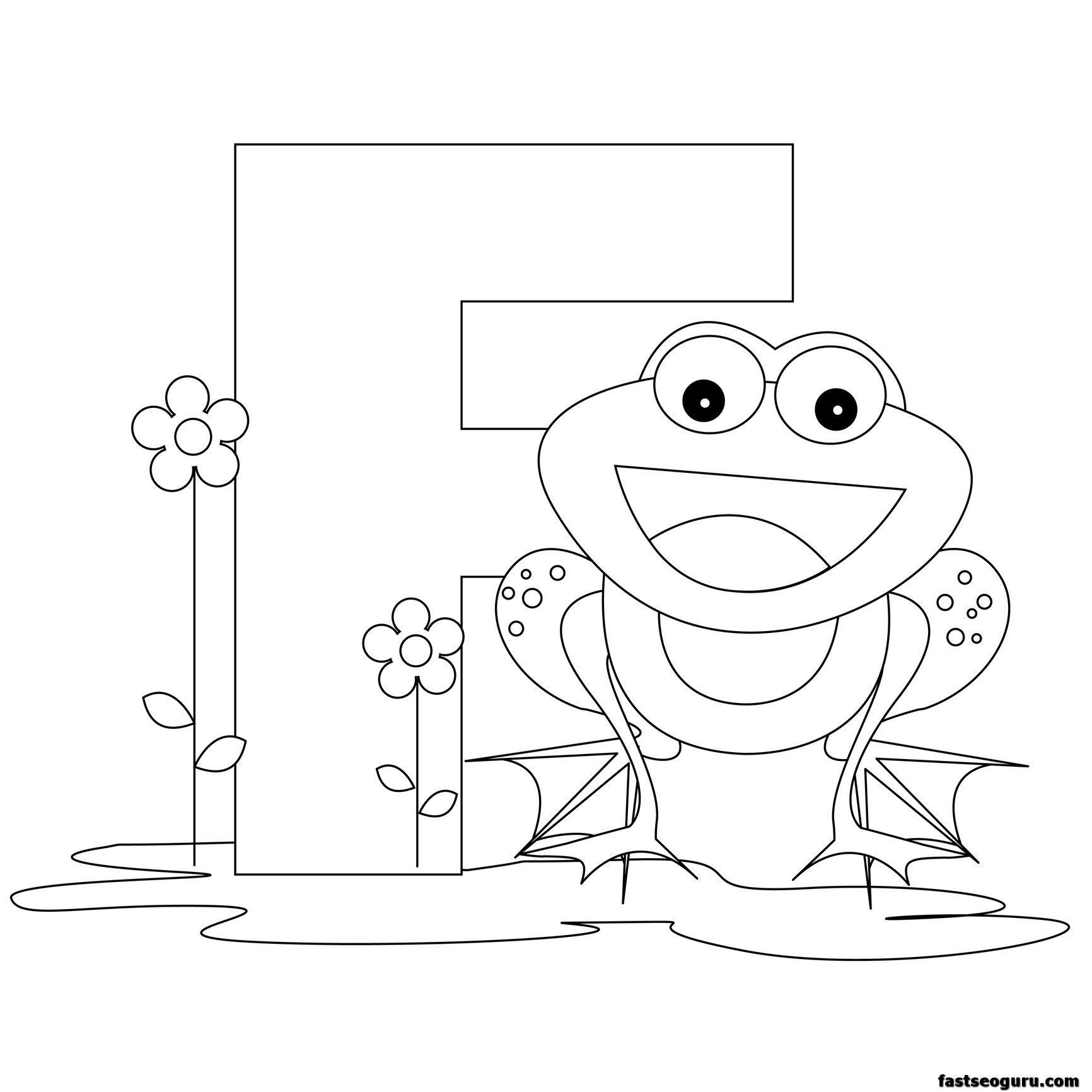Printable Animal Alphabet Worksheets Letter F For Frog