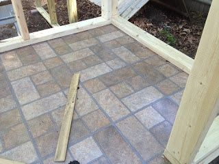 Peel And Stick Vinyl Tiles For An Easy Clean Chicken Coop Floor Clean Chicken Building A Chicken Coop Chickens Backyard