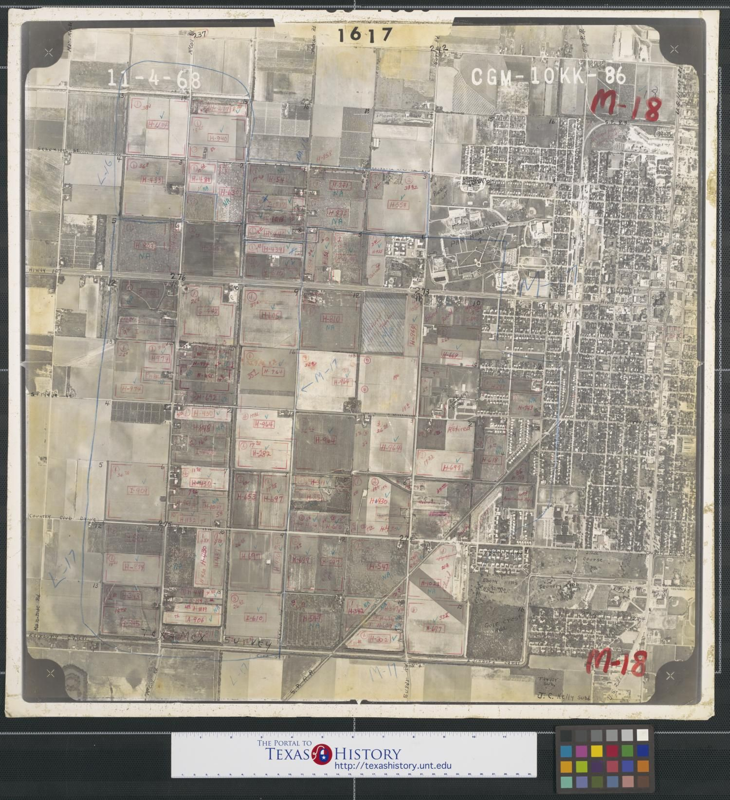 Map Of Us States Bordering Mexico%0A Photograph of west Edinburg  Texas and Pan American College taken as part  of an agricultural survey  This aerial image includes the area roughly  bordered by