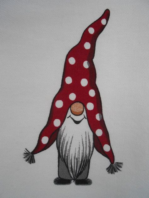 Gnome In Garden: Scandinavian Christmas Gift Bag Gnome Elf Tomte Nissse