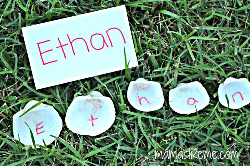 Shell Names - Beach Sensory Activity and Homemade Sand Recipe - Mamas Like Me
