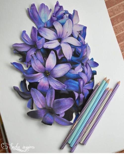 рисунки карандаш Pinterest Croquis De Fleurs Crayon De