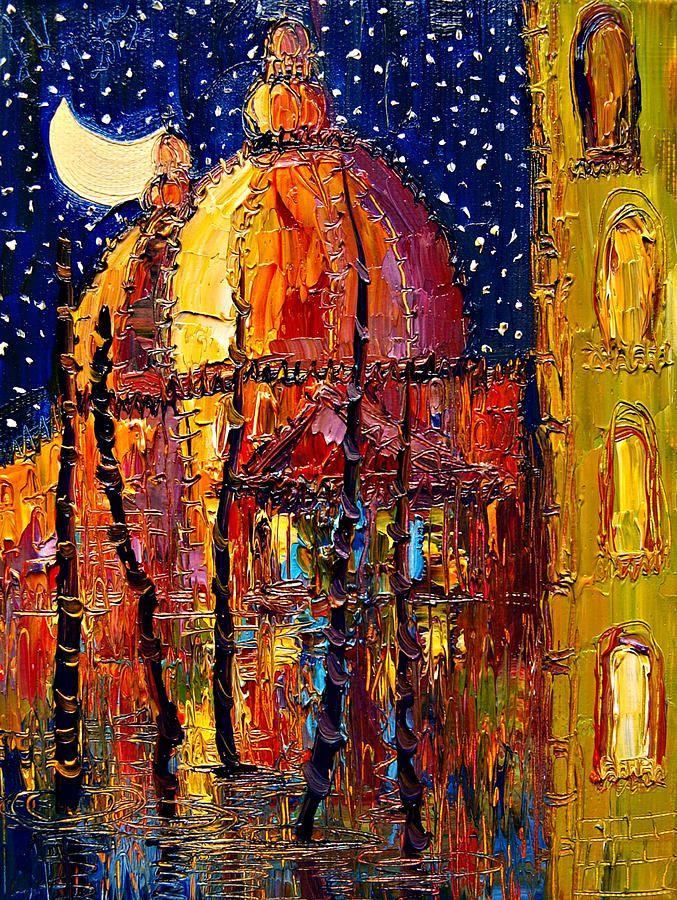 Moon Paintings Fine Art | Tags: moon paintings , venice paintings , night paintings