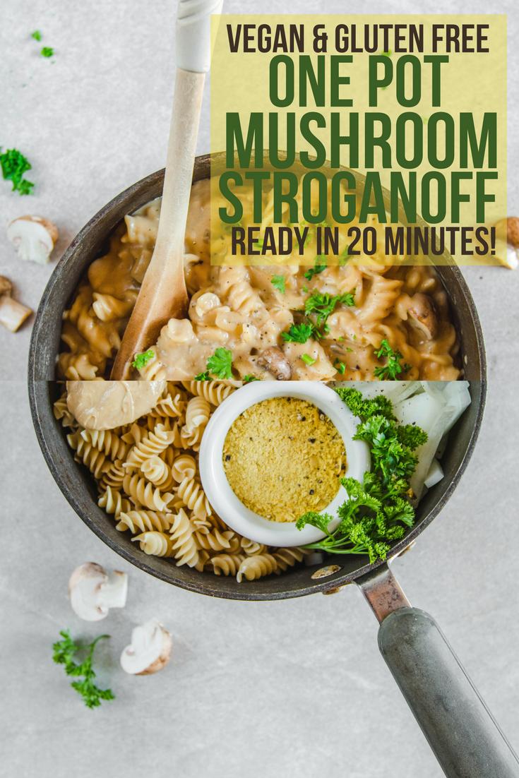 One Pot Mushroom Stroganoff Vegan