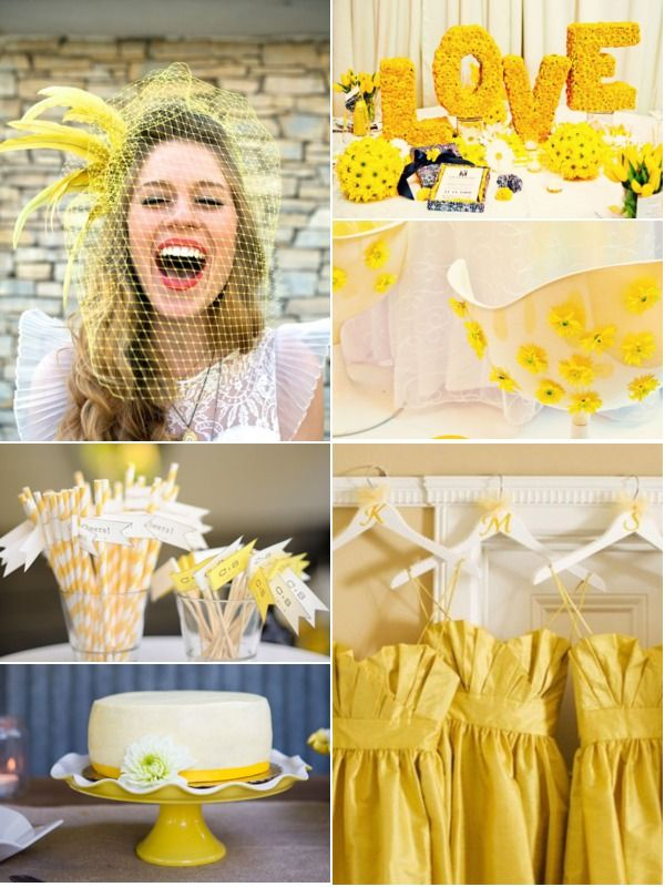 Not so mellow yellow mood board blog post has links to for Mobilia wedding