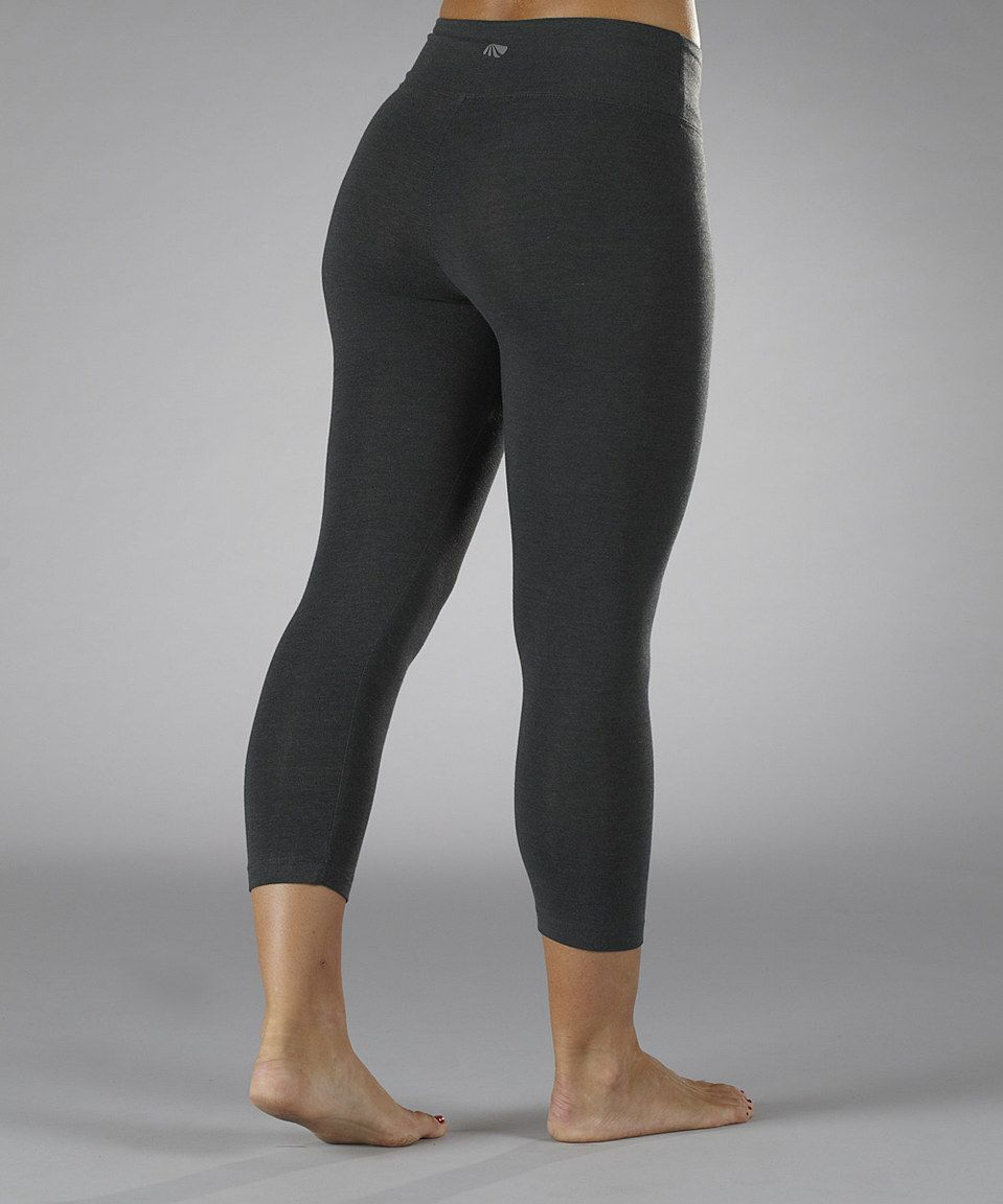 ecd167cf5926d Another great find on #zulily! Marika Magic by Marika Heather Charcoal  Tummy-Control Capri Leggings - Women by Marika Magic by Marika #zulilyfinds