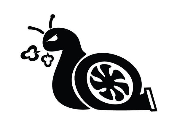 Turbo Snail Custom Vinyl Graphic Decal Sticker Art By