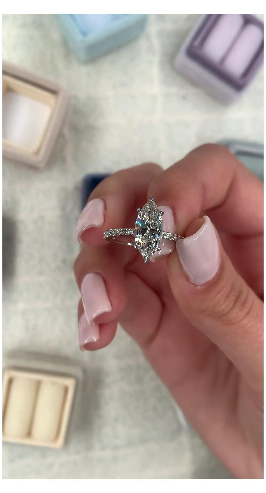 2 carat marquise engagement ring